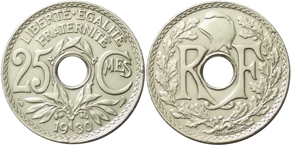 25 сантимов 1930 Франция