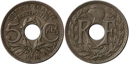5 сантимов 1918 Франция