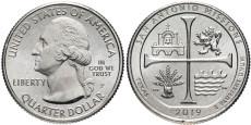 25 центов 2019 P США — Национальный Исторический Парк Миссии Сан-Антонио — San Antonio Missions UNC