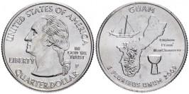 25 центов 2009 P США — Гуам — Guam UNC