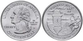 25 центов 2009 D США — Пуэрто-Рико — Puerto rico UNC