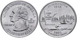 25 центов 2005 D США — Миннесота — Minnesota