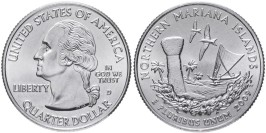 25 центов 2009 D США — Северные Марианские острова — Northern Mariana Islands