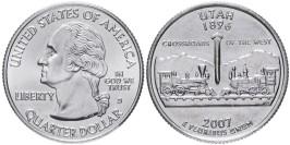 25 центов 2007 D США — Юта — Utah