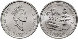 25 центов 2000 Канада — Миллениум — Природное наследие