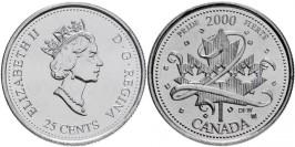 25 центов 2000 Канада — Миллениум — Гордость