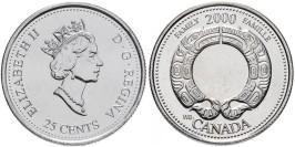 25 центов 2000 Канада — Миллениум — Семья