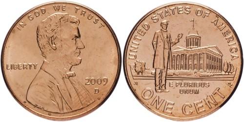 1 цент 2009 D США — 200 лет со дня рождения Авраама Линкольна — Карьера в Иллинойсе