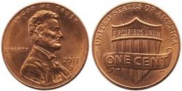 1 цент 2013 D США UNC