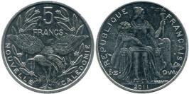 5 франков 2011 Новая Каледония