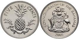 5 центов 2005 Багамские Острова UNC