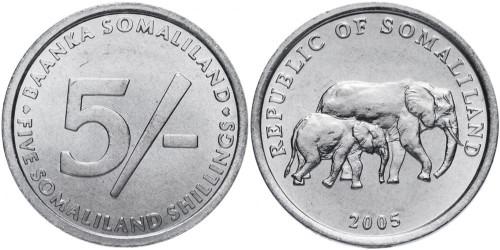 5 шиллингов 2005 Сомалиленд UNC