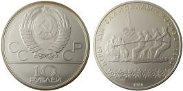 10 рублей 1980 СССР — XXII летние Олимпийские Игры, Москва 1980 — Перетягивание каната — серебро №1