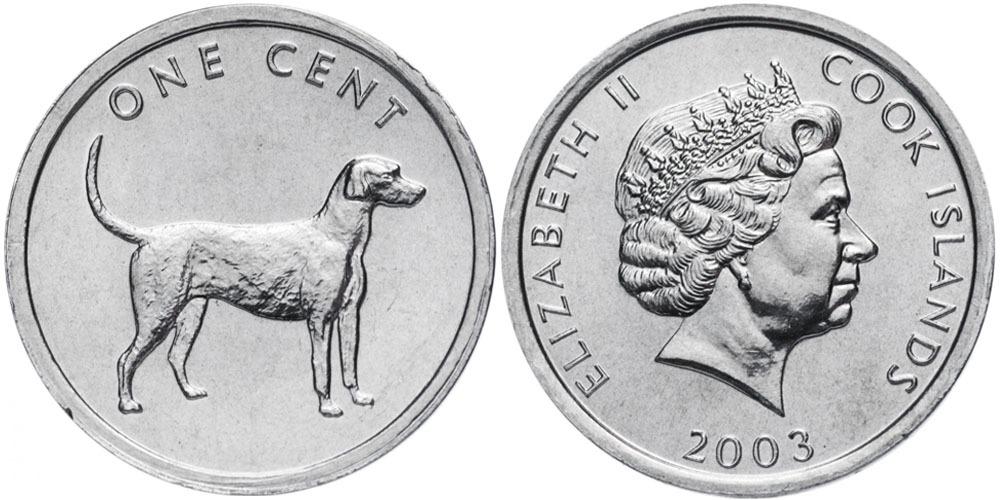 1 цент 2003 Острова Кука — Легавая UNC