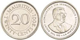 20 центов 2001 Маврикий UNC