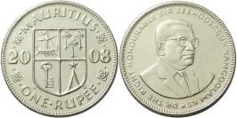 1 рупия 2008 Маврикий UNC