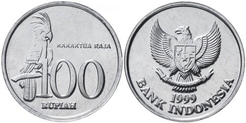 100 рупий 1999 Индонезия — Чёрный какаду
