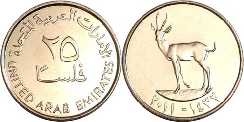 25 филсов 2011 ОАЭ UNC