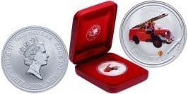 1 доллар 2006 Острова Кука — Пожарные машины мира — Пожарный автомобиль Коммер — серебро