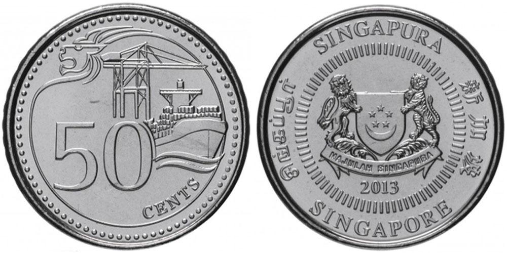 50 центов 2013 Сингапур UNC