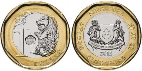 1 доллар 2013 Сингапур UNC