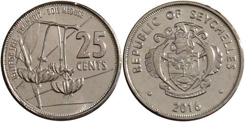 25 центов 2016 Сейшельские острова UNC
