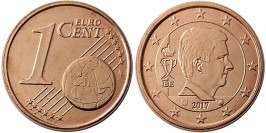 1 евроцент 2017 Бельгия UNC