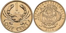1 цент 2014 Сейшельские острова — Краб UNC