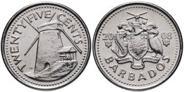 25 центов 2008 Барбадос UNC