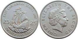 25 центов 2007 Восточные Карибы