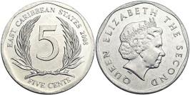 5 центов 2008 Восточные Карибы