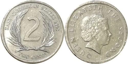 2 цента 2008 Восточные Карибы