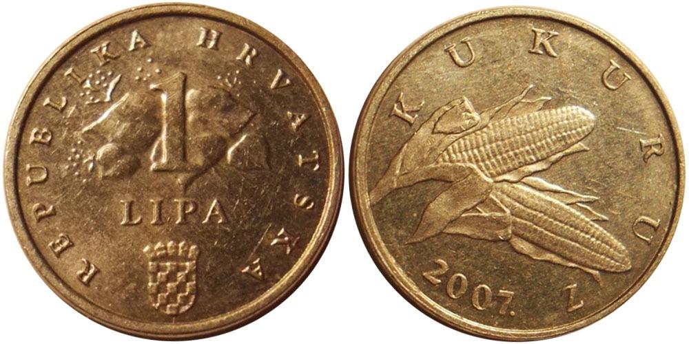 1 липа 2007 Хорватия UNC