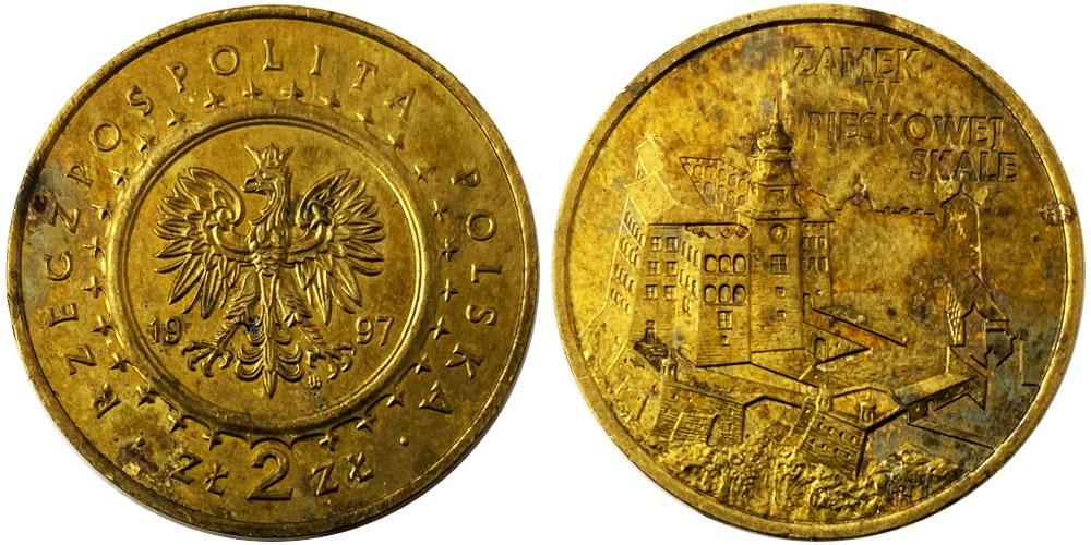 2 злотых 1997 Польша — Замок Песковая Скала