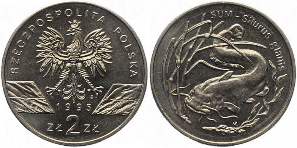 2 злотых 1995 Польша — Сом