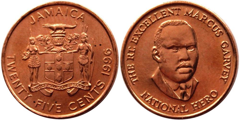 25 центов 1996 Ямайка