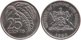 25 центов 1983 Тринидад и Тобаго — Чакония