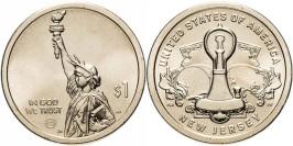 1 доллар 2019 D США UNC — Американские инновации — Лампа накаливания Эдисона