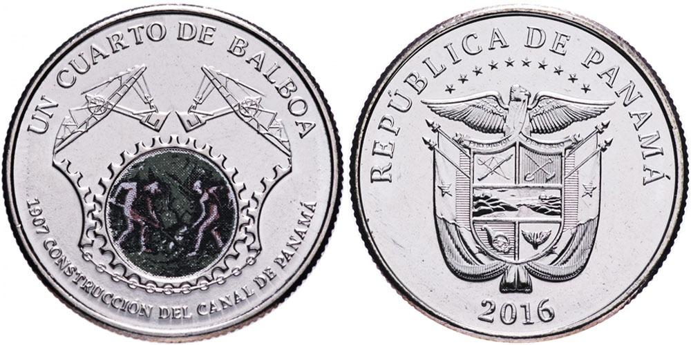1/4 бальбоа 2016 Панама — 100 лет строительству Панамского канала — рабочие