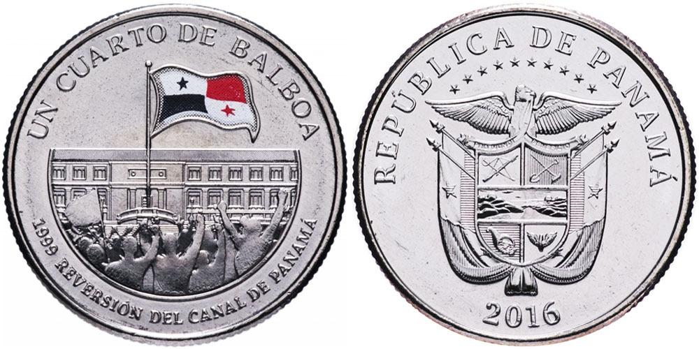 1/4 бальбоа 2016 Панама — 100 лет Панамского канала — Возвращение под контроль Панамы 1999