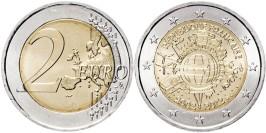2 евро 2012 Франция — 10 лет евро наличными