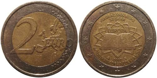 2 евро 2007 Нидерланды — 50 лет подписания Римского договора