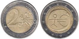 2 евро 2009 «F» Германия — 10 лет монетарной политики ЕС (EMU) и введения евро