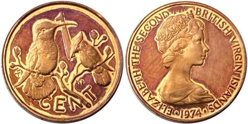 1 цент 1974 Британские Виргинские острова