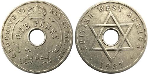 1 пенни 1937 Британская Западная Африка