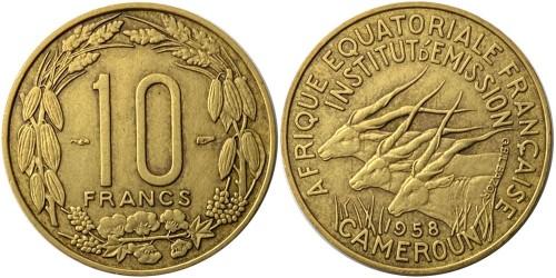 10 франков 1958 Французская экваториальная Африка