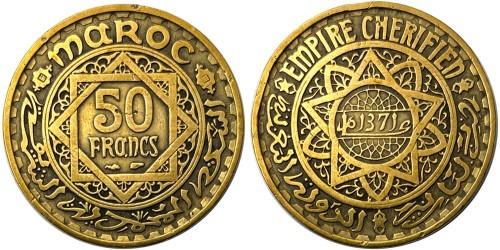 50 франков 1952 Марокко