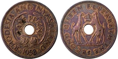½ пенни 1958 Родезия и Ньясаленд