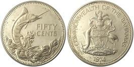 50 центов 1974 Багамские Острова