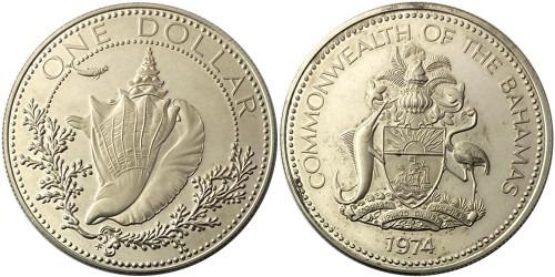 1 доллар 1974 Багамские Острова